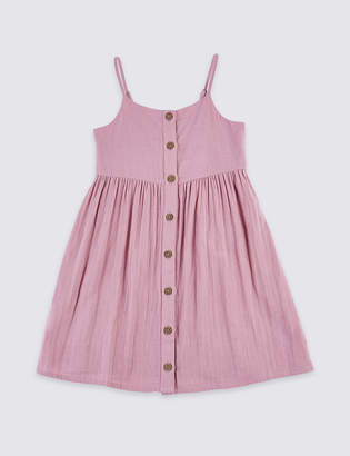 Marks and Spencer Pure Cotton Dress (3-16 Years)