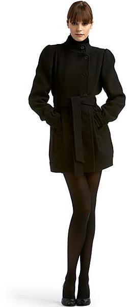 Fendi Belted Wool Crepe Coat