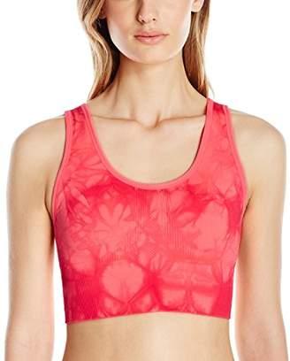 Lark & Ro Women's Tie-Dye Seamless Elongated Sports Bra