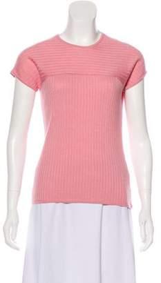 St. John Short Sleeve Wool-Blend Top