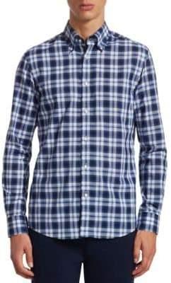 Ralph Lauren Purple Label Cameron Tartan Button-Down Shirt