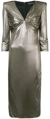 Versace draped neckline dress