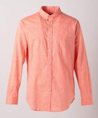 SHARE PARK (シェア パーク) - 【30%OFF】シェアパーク綿麻混 カラー レギュラーカラーシャツメンズオレンジ系1【SHARE PARK】【セール開催中】