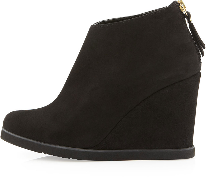 Andre Assous Bayla Suede Wedge Bootie, Black