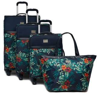 Tommy Bahama St. Kitts 4-Piece Floral Expandable Spinner Luggage Set