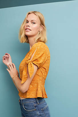 Moon River Adda Textured Blouse
