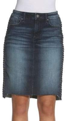 Driftwood Skylar Braided Denim Skirt