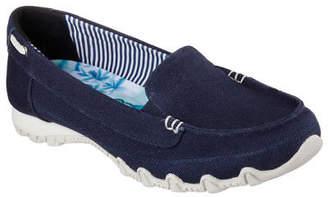 Skechers NEW Women Sneakers Slipper Loafer Memory Foam BIKERS - MOTORING Navy
