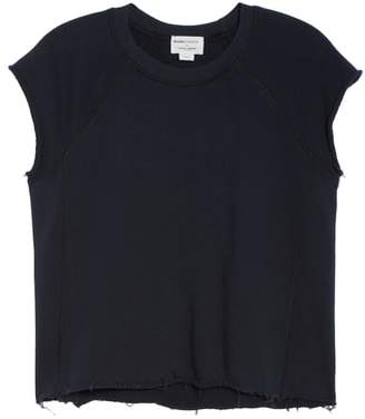 David Lerner Sleeveless Raw Hem Crop Top