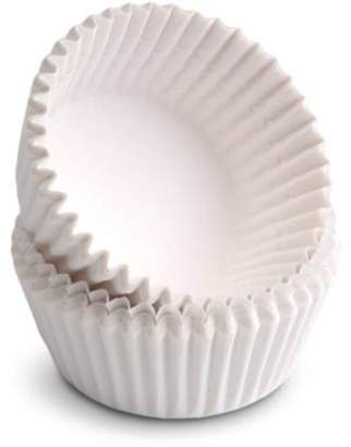 Babycakes Paper Mini Cupcake Liners, White, 100-Count