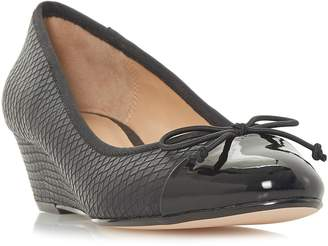 Linea Alissy Reptile Wedge Court Shoes