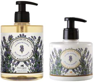 Panier Des Sens Relaxing Lavender Liquid Soap and Hand & Body Lotion Set