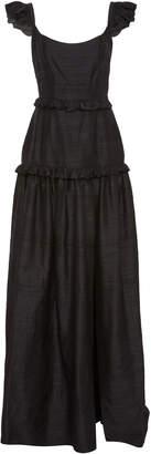 Markarian Exclusive Ruffled Silk-Shantung Gown