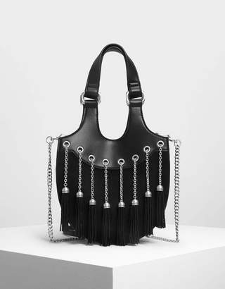 Charles & Keith Tassel Detail Hobo Bag