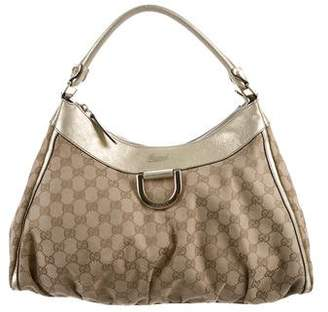 Gucci Large GG Canvas D-Ring Bag