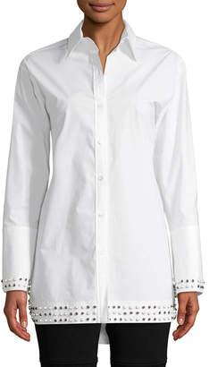 Derek Lam 10 Crosby Derek Lam Studded Boyfriend Shirt
