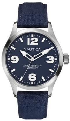 Nautica BFD 102 Men's Quartz Watch with Dial Analogue Display and Fabric Strap A11555G