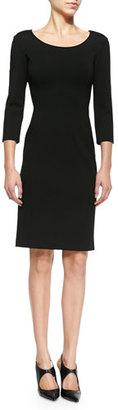 Armani Collezioni Double-Face Jersey Sheath Dress $359 thestylecure.com