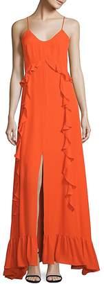 "L'Agence L""AGENCE Women's Perla Ruffle Silk Dress"