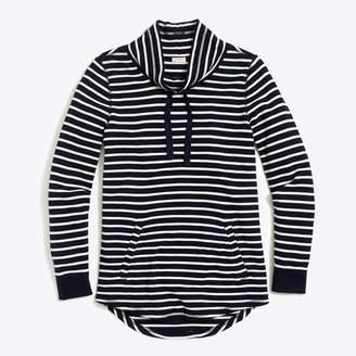 J.Crew Factory Striped waffle funnelneck sweatshirt