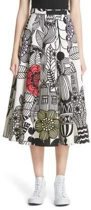 Junya Watanabe x Marimekko Vegetable Print Cotton Skirt