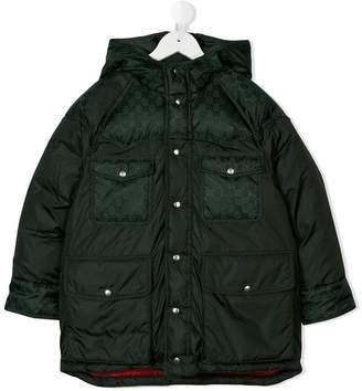 Gucci (グッチ) - Gucci Kids GG jacquard trim padded jacket
