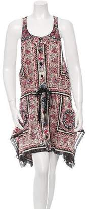 Anna Sui Patterned Drawstring Dress