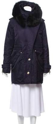 Altuzarra Fur-Trimmed Hooded Coat