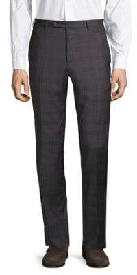 Zanella Plaid Wool Pants