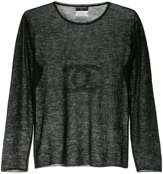 Chanel Pre-Owned 2002 CC long sleeve top