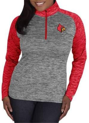 NCAA Louisville Cardinals Ladies 1/4 Zip Athletic-Fitness Pullover