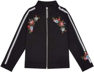 Ermanno Scervino Floral Zip-Up Sweatshirt