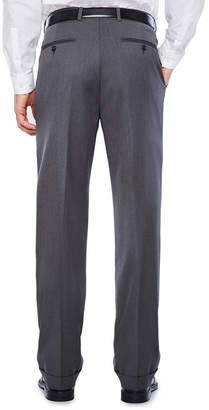 STAFFORD Stafford Medium Grey Travel Woven Pleated Suit Pants-Classic Fit