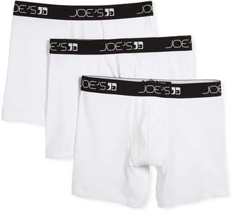 Joe's Jeans Men's 3-Pack Stretch Cotton Boxer Briefs