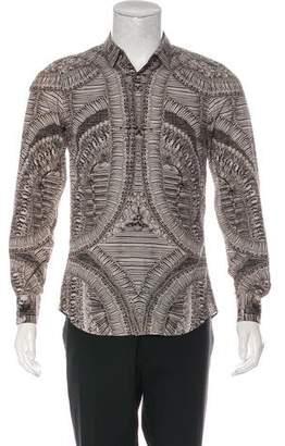 Alexander McQueen 2010 Woven Skeleton Print Shirt w/ Tags