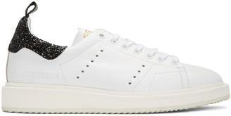 Golden Goose White Glitter Starter Sneakers $550 thestylecure.com