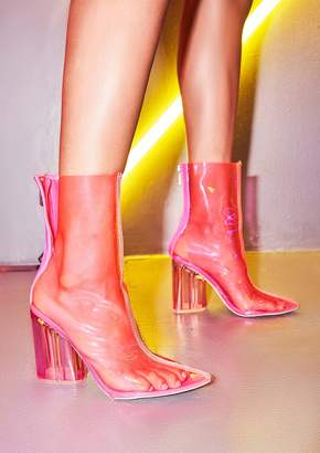 aed70acc771 Missy Empire Missyempire Page Neon Pink Perspex Boots