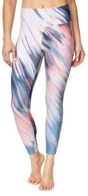 Betsey Johnson Printed Side Pintuck High-Rise Leggings