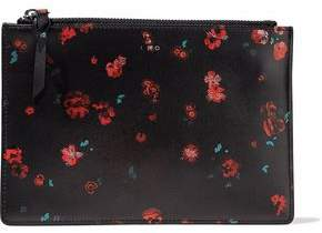 IRO Floral-Print Leather Pouch