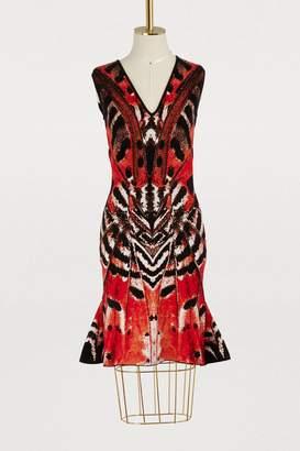 Alexander McQueen V-neck mini dress