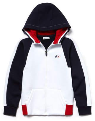 Lacoste Boys' French Sporting Spirit Edition Colorblock Fleece Sweatshirt