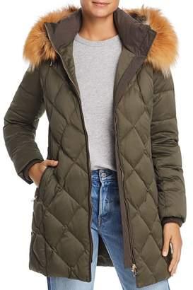 Maximilian Furs Fox Fur Trim Down Coat- 100% Exclusive
