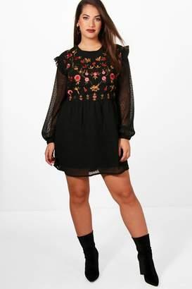 49e34c5377f5e boohoo Black Embroidered Dresses - ShopStyle