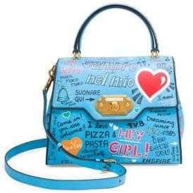 Dolce & Gabbana Dolce& Gabbana Dolce& Gabbana Women's Classic Graffiti Top Handle Bag - Blue Multi