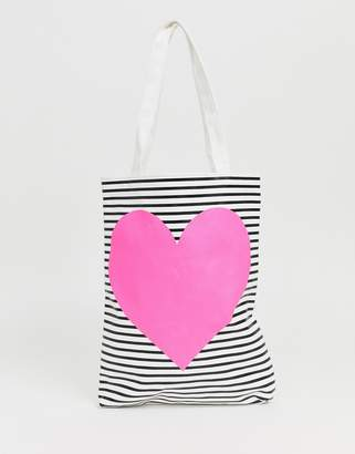 ban.do Ban Do Canvas Neon Heart Tote Bag