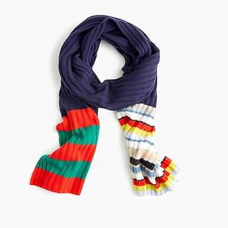 J.Crew Scarf in striped everyday cashmere