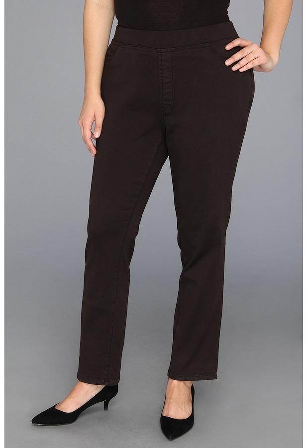 NYDJ Plus Size - Plus Size Claire Pull-On Legging Super Stretch Denim (Mahogany) - Apparel