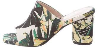 Stuart Weitzman Floral Slide Sandals