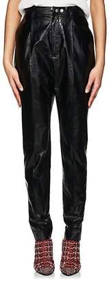 AKIRA NAKA Women's Crinkled Coated Cotton Trousers