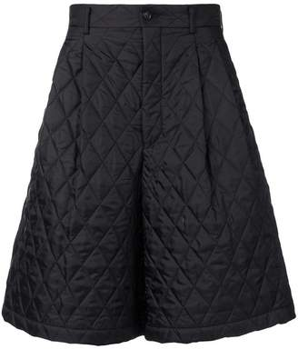 Comme des Garcons padded wide leg shorts